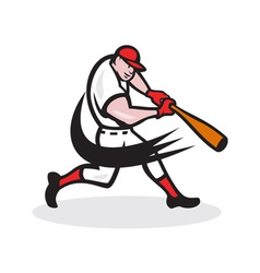 Baseball Player Batting Isolated Cartoon vector image