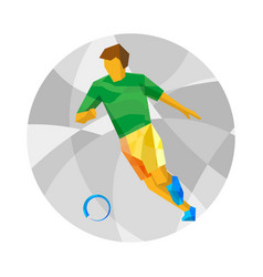 football player with abstract patterns vector image