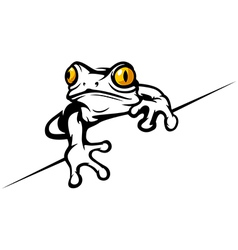 Frog cool vector image vector image
