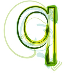 Green letter Q vector image vector image