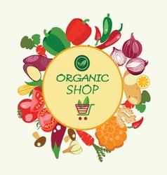 Organic food concept Vegetarian menu set vector image vector image