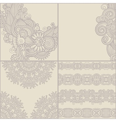 Ornate card announcement collection vector