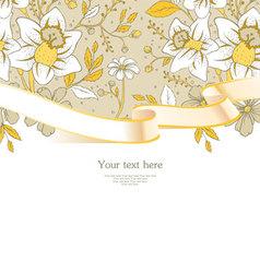 ribbon florals vector image vector image