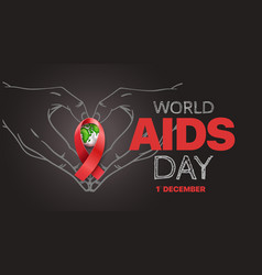 Aids awareness symbol world aids day concept with vector