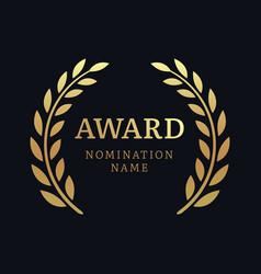 Award laurel logo poster gold win vector