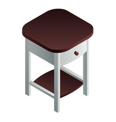 bedside table icon isometric style vector image