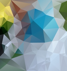 Blue green gray abstract polygon triangular vector