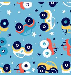 Car seamless pattern print design vector