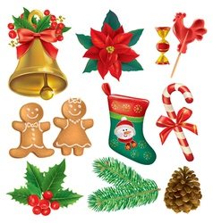 Christmas beautiful set vector