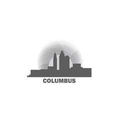 columbus city skyline vector image