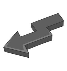 Curve arrow icon black monochrome style vector