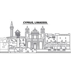 cyprus limassol line skyline vector image