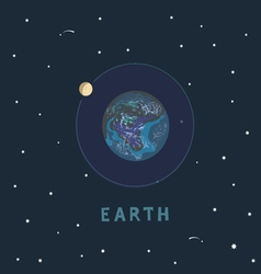 earth space view vector image