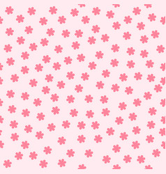 flower background seamless pattern vector image