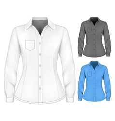 Formal long sleeved blouses for lady vector