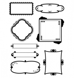 Frame decorations vector