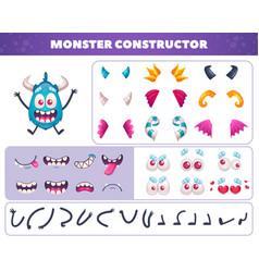 Funny beast constructor set vector