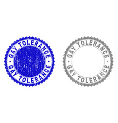 Grunge gay tolerance scratched stamps vector