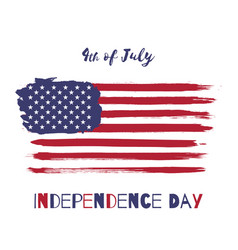 happy independence day usa watercolor flag vector image