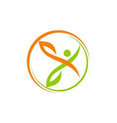 Health life logo design template vector