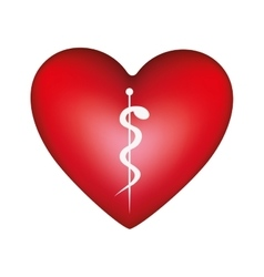 Heart shape health care emblem icon image vector