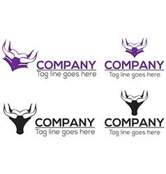 Horn graduation icon and logo design vector image