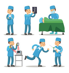 hospital medical staff character surgeon doctor vector image