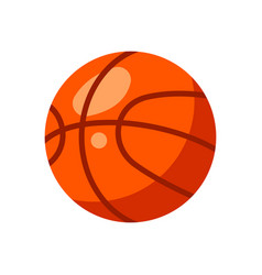 icon red basketball ball in flat style vector image