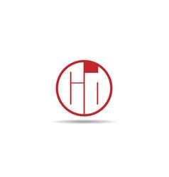 initial letter cd logo template design vector image
