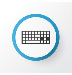 Keyboard icon symbol premium quality isolated vector
