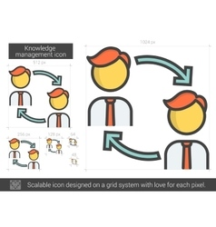 Knowledge management line icon vector