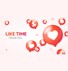 like time concept banner card background vector image