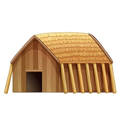 Log house vector image