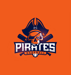 modern professional emblem pirates for baseball vector image