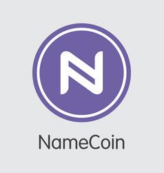 Namecoin blockchain cryptocurrency - coin vector