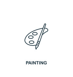 painting icon thin outline style design from vector image