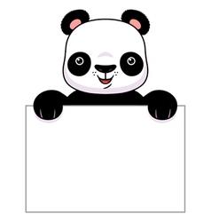 Panda banner vector image
