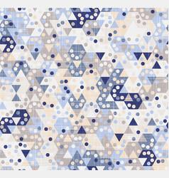 Pastel hexagon tiling geo graphic texture motif vector