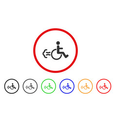 patient movement rounded icon vector image