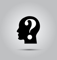 Question mark human head vector