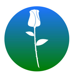 rose sign white icon in vector image