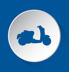 scooter - simple blue icon on white button vector image