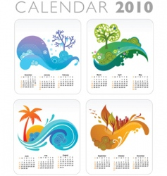 Seasons calendar vector