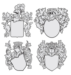 Set aristocratic emblems no1 vector