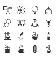 Set of science icons eps10 format vector