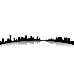 silhouettes the cityscapes vector image