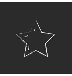 Star rating icon drawn in chalk vector image