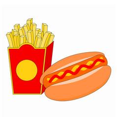Tasty fast food breakfast menu vector