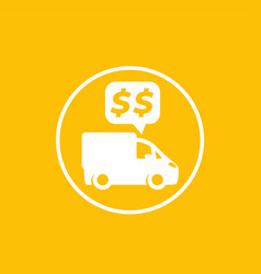 Transportation costs payments icon vector