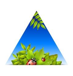 Triangular spring background vector